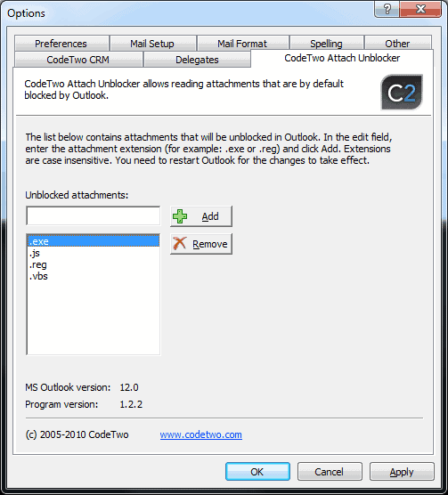 outlook blocked attachment