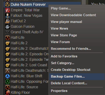 backup steam game files