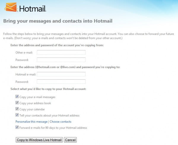 import gmail emails