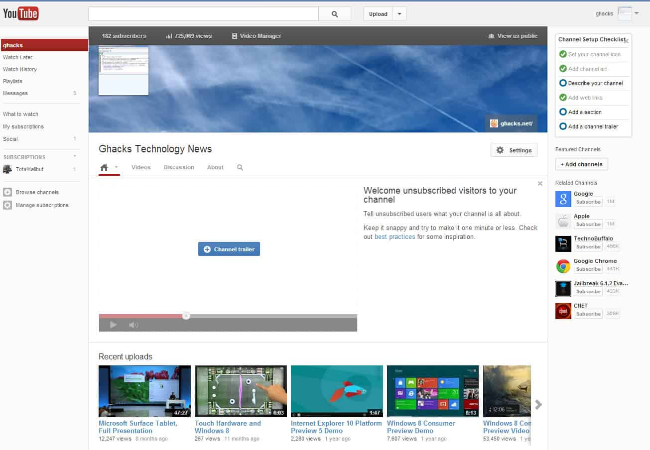 youtube channel one design