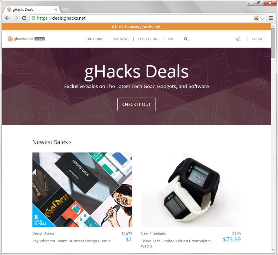 ghacks deals