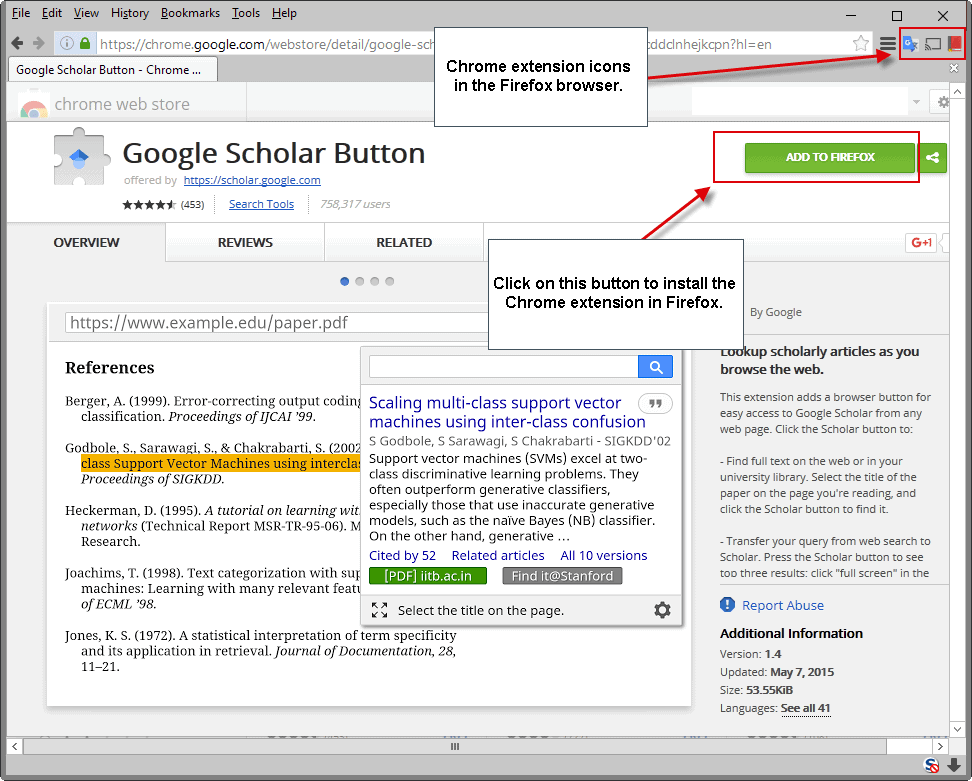 add to firefox chrome extension