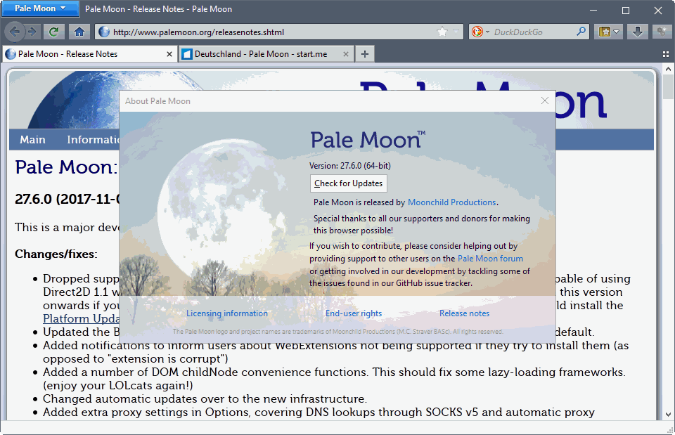 Pale Moon 27.6.0 is out