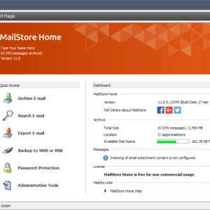 mailstore home 11.0
