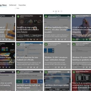 Newsflow is a free, customizable RSS reader app for Windows 10