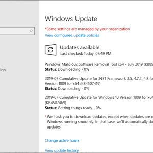 microsoft windows security updates july 2019
