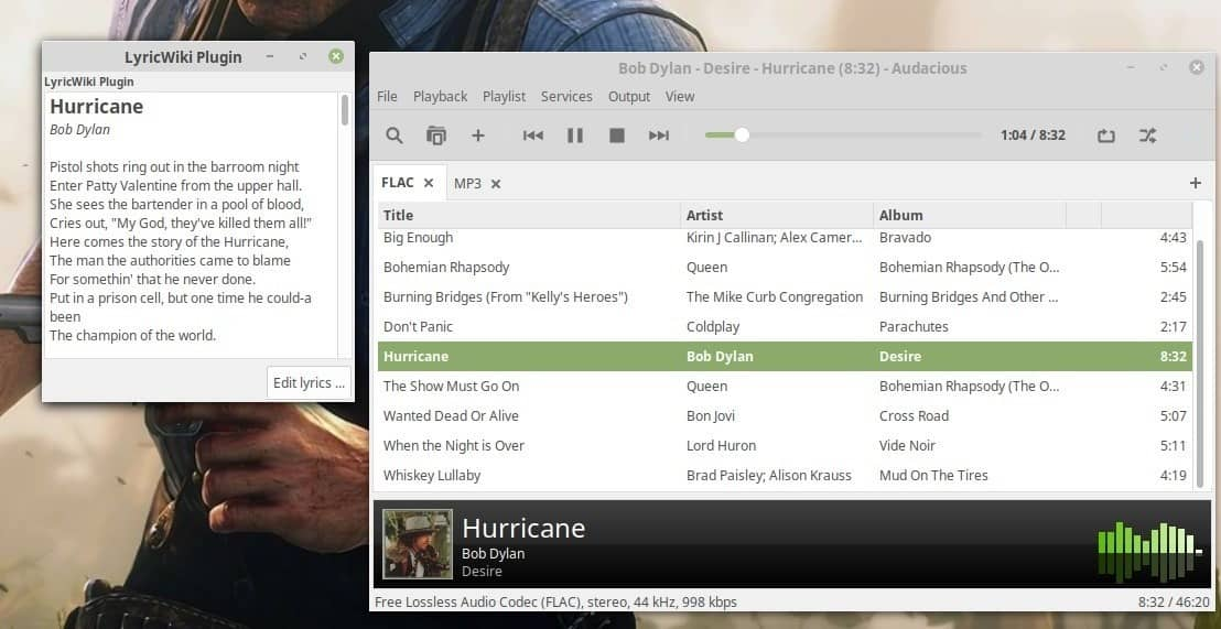 Audacious is an open source music player for Windows and Linux