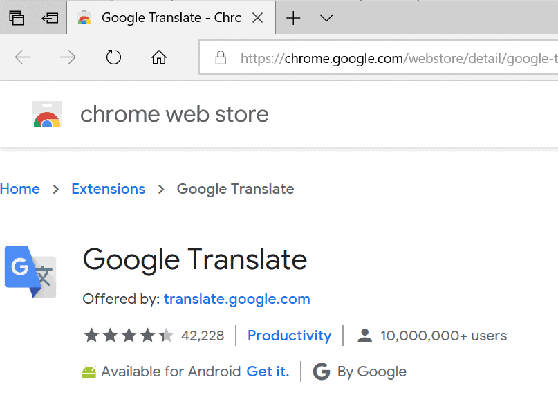 chrome extensions user count