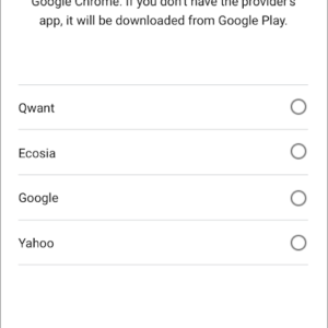 google-android search engine choice