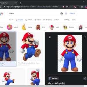 google images right side preview