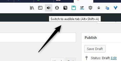 Switch to audible tab
