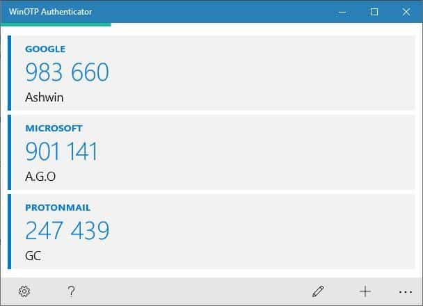WinOTP Authenticator is an open source 2-factor verification app for Windows 10