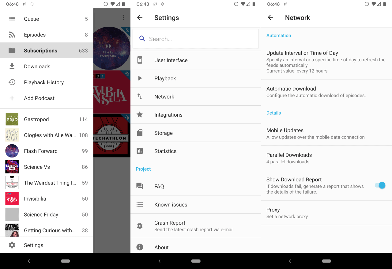 antennapod podcast player android