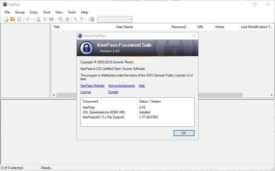 keepass password safe 2.43