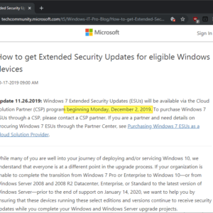 extended security updates windows 7