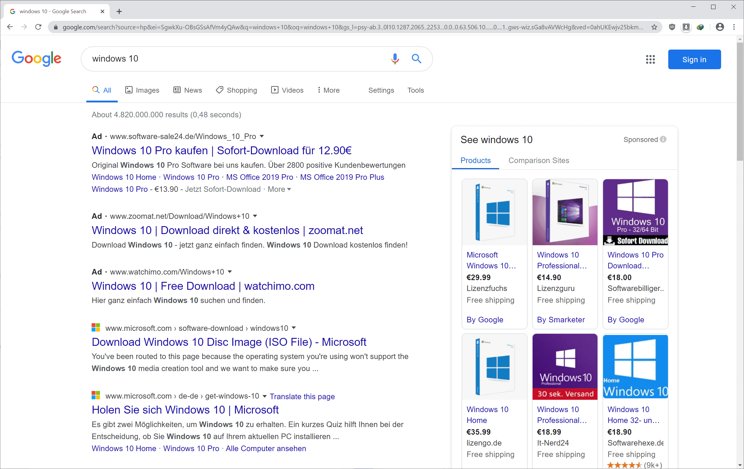 google search icons ads