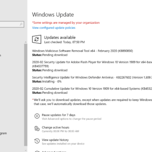 microsoft windows security updates february 2020