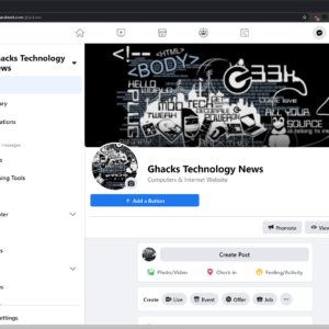 new facebook design wide