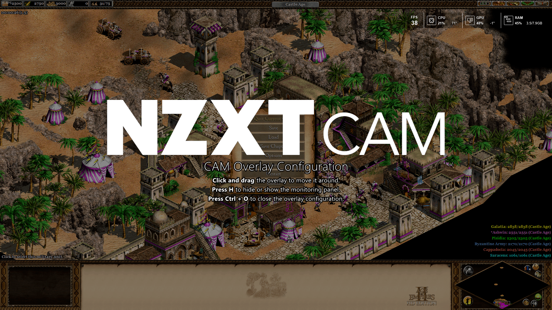 NZXT Cam overlay reposition