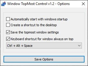Windows Topmost Control options