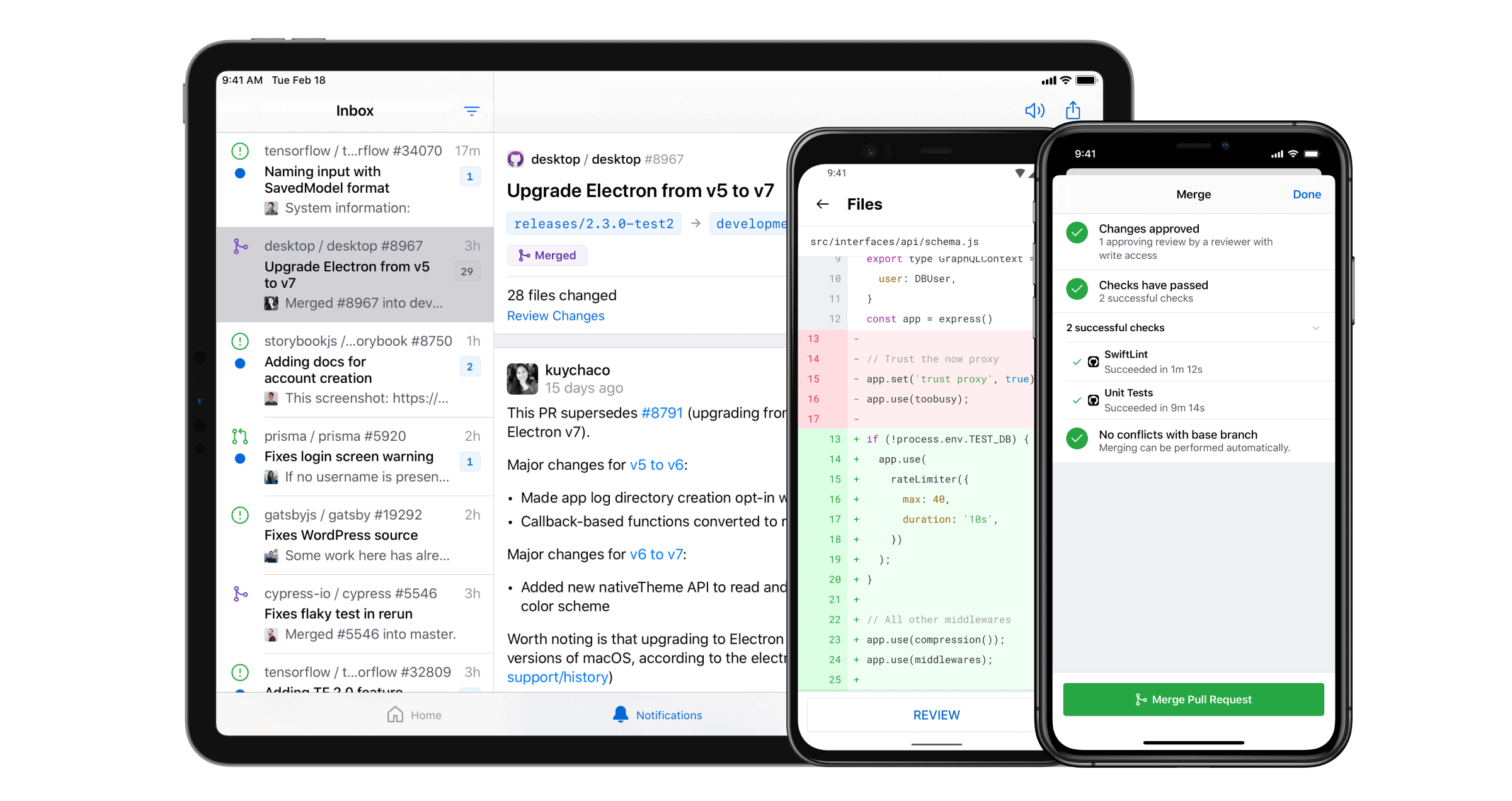GitHub Mobile for Android and iOS stable is now available