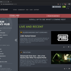 steam news hub