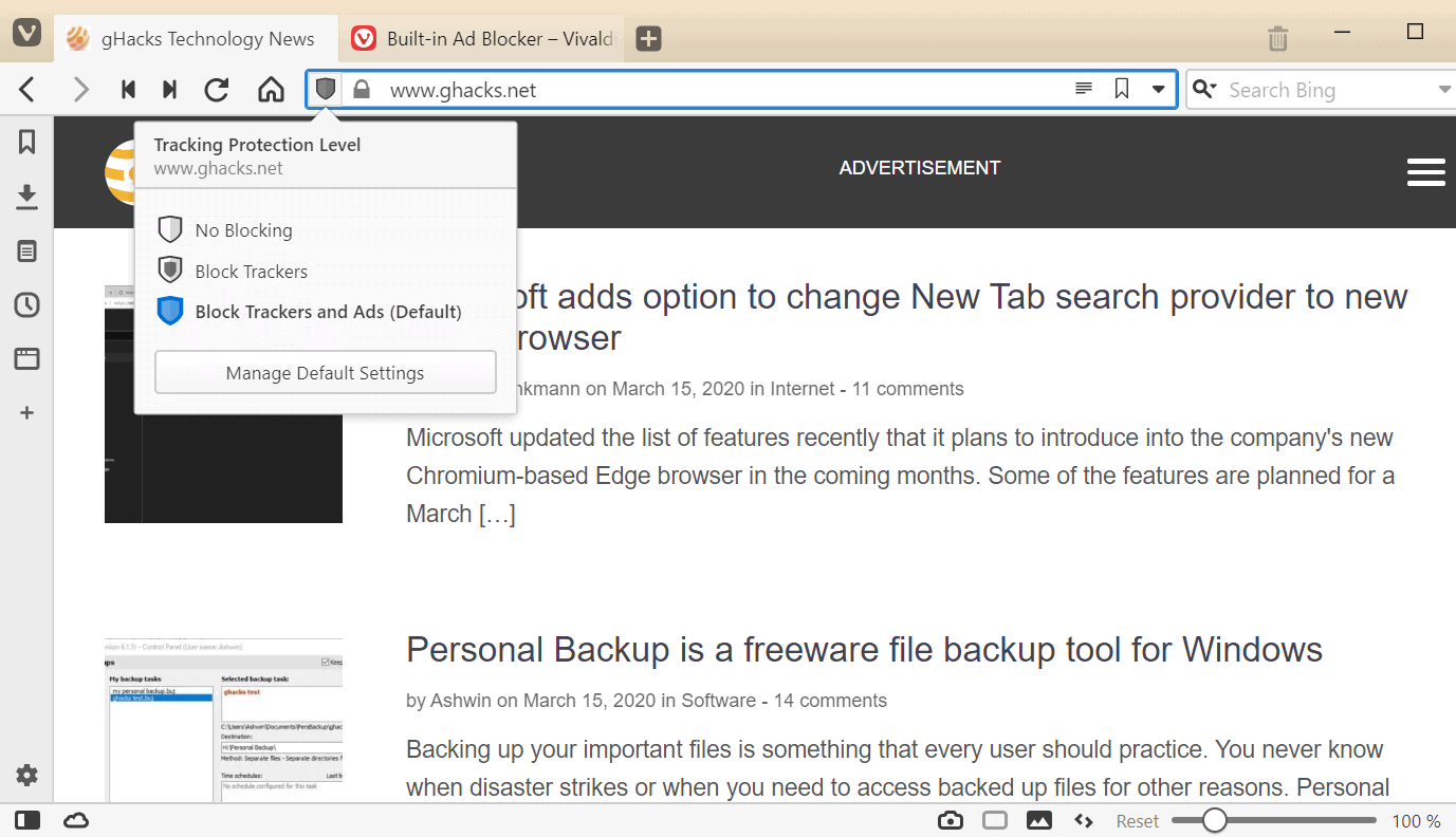 Vivaldi introduces ad-blocker in latest browser snapshot