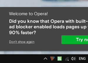 opera promotional notification