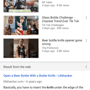 youtube app google search