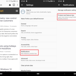firefox android notifications