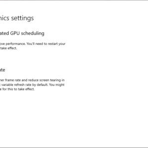 windows-gpu hardware scheduling