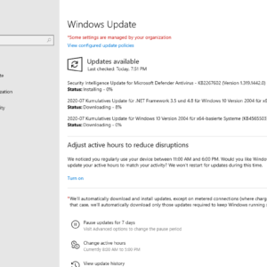 windows security updates july 2020