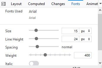 identify fonts on any webpage using Firefox