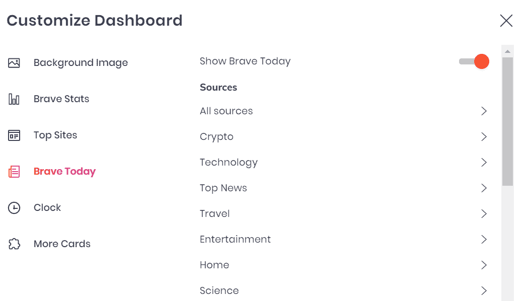 brave today news categories