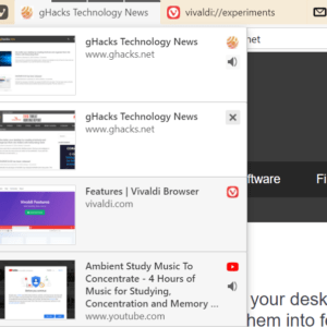 vivaldi tab stacks interface