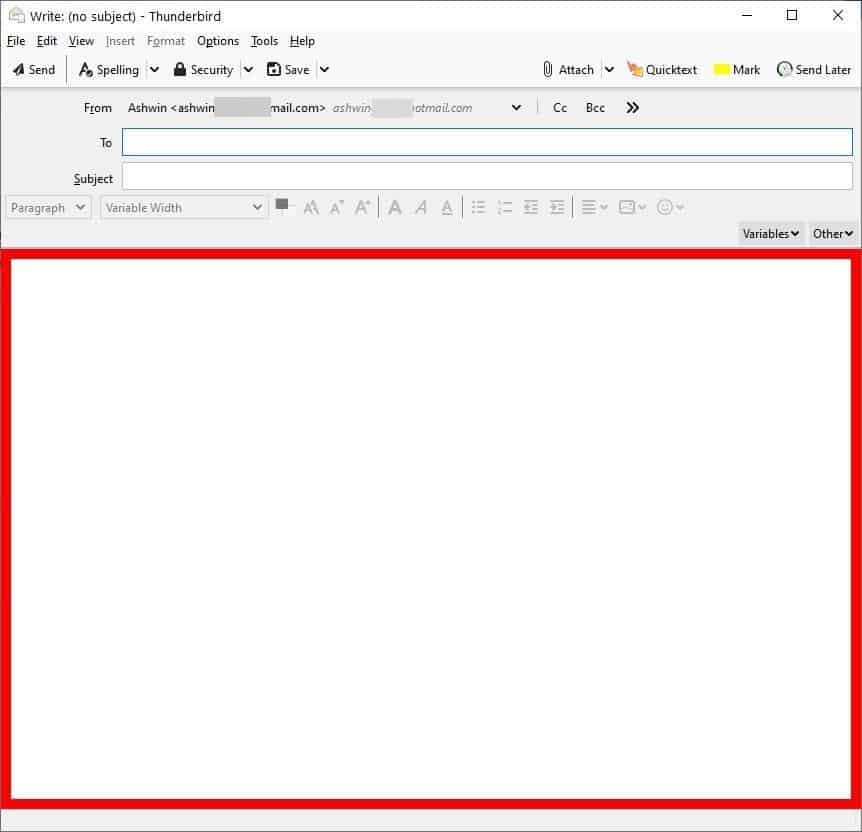 BorderColors D is a Thunderbird extension that helps you avoid sending mails from the wrong account
