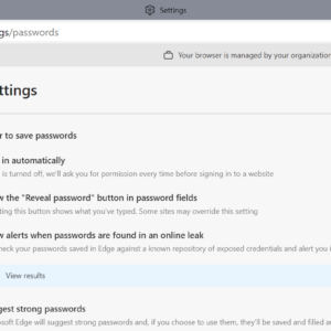 microsoft edge passwords