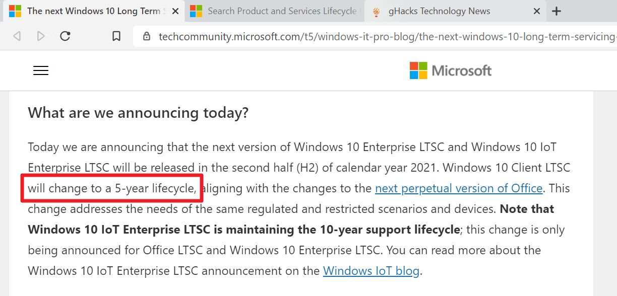 windows 10 enterprise ltsc