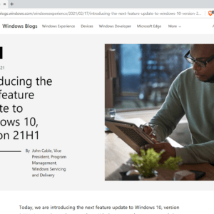 windows 10 version 21h1 feature update announced
