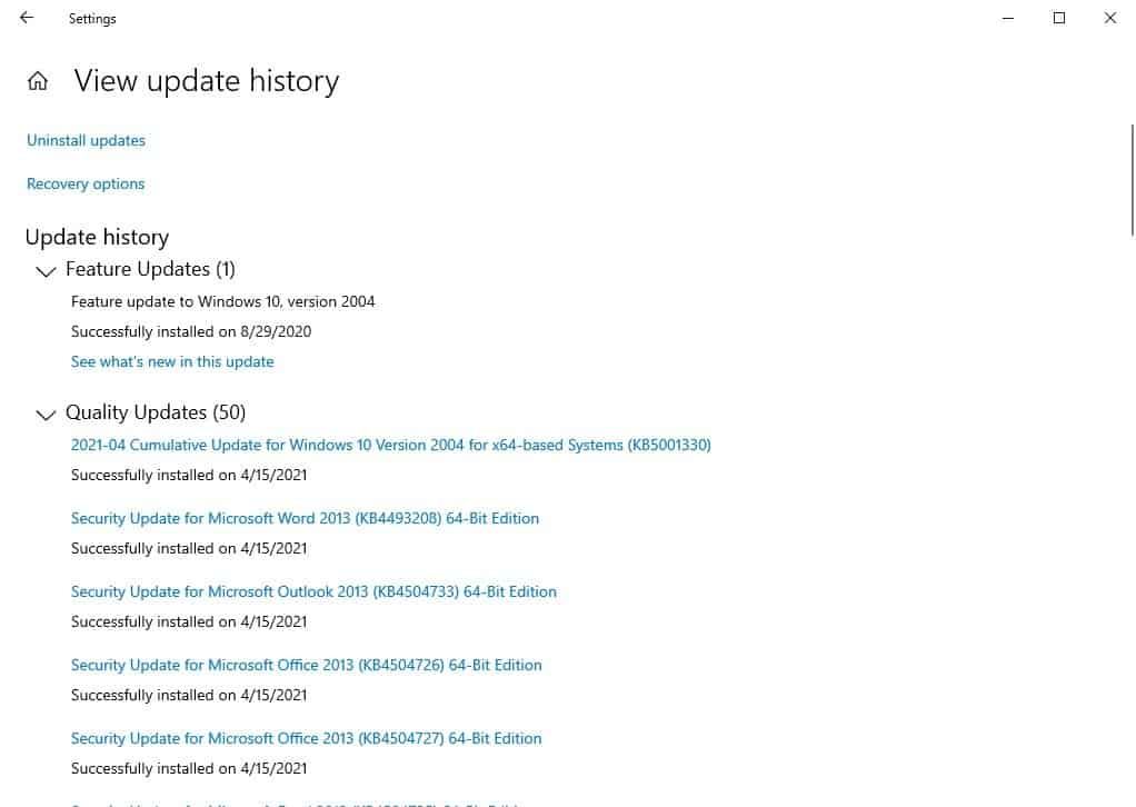 KB5001330 Windows Update is reportedly causing performance drop in games, failed installs and bootloops