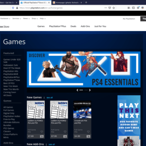 old playstation store