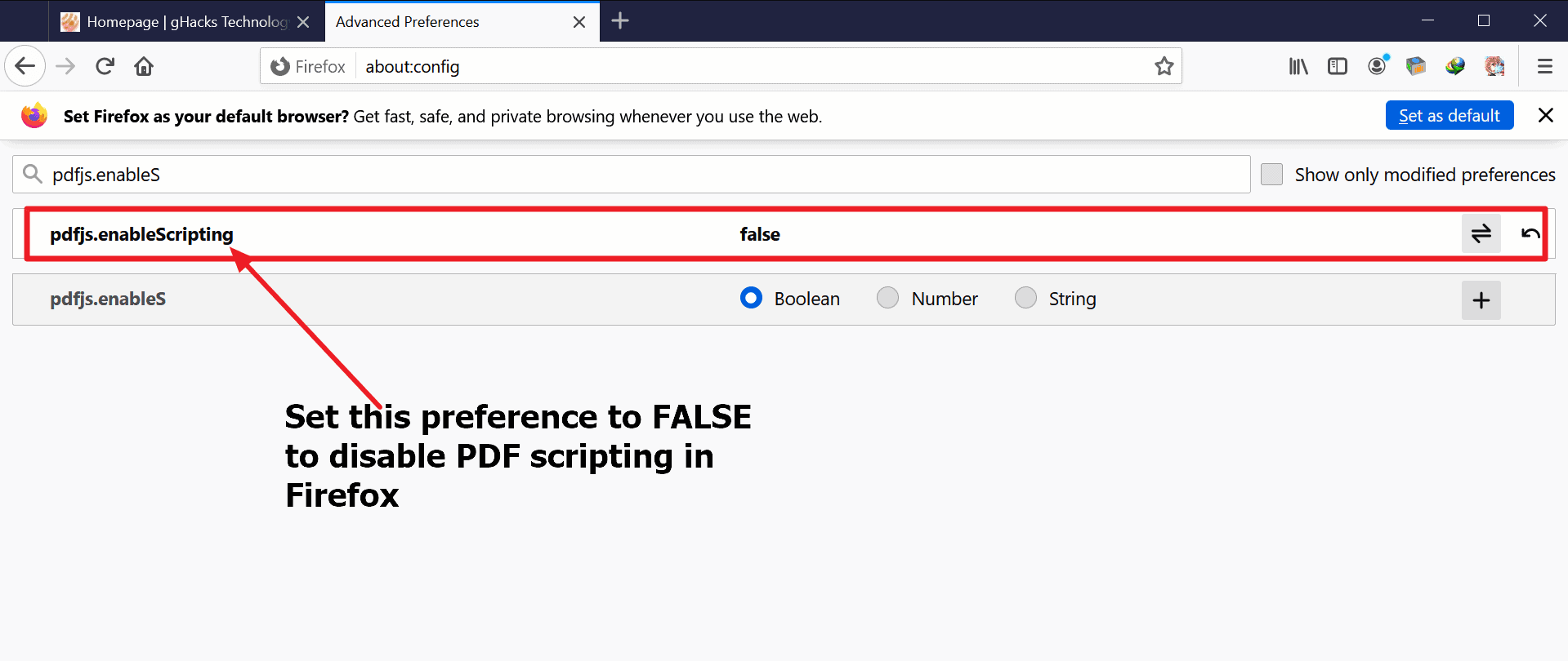 firefox disable javascript in pdf