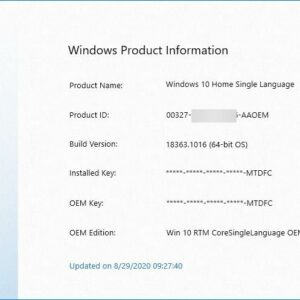 Find your Windows product key or validate it with ShowKeyPlus
