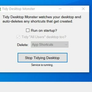 Tidy Desktop Monster is an open source tool that deletes shortcuts from your desktop automatically