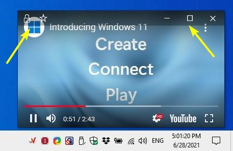 uView Player Lite - maximize or lock view