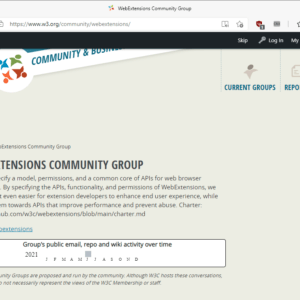 webextensions community group