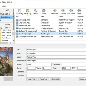 Abyssmedia ID3 Tag Editor is a simple, freeware program that allows you to edit audio tags