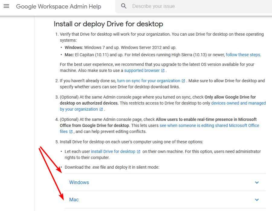 Drive for Desktop download for Windows and Mac