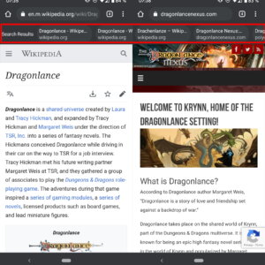 chrome search results android