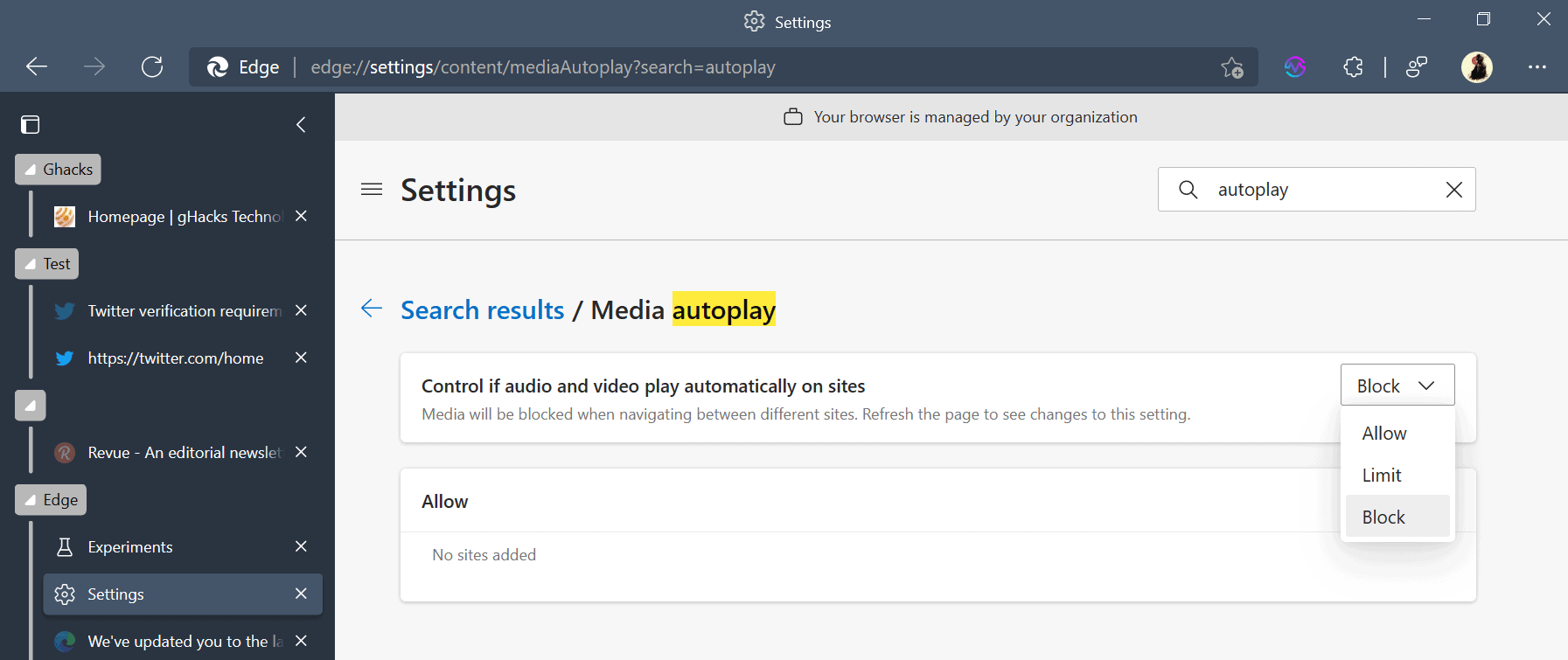 Microsoft Edge 92 won't autoplay all media anymore by default